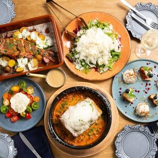 【シェアプラン】お料理のみ<br>全5品『EMANONイタリアプラン』3200円の画像